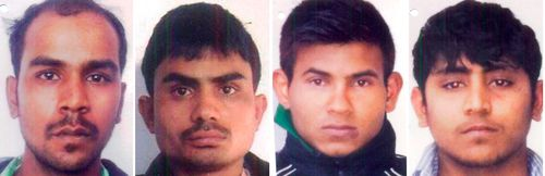 Convicted rapists, from left, Mukesh Singh, Akshay Thakur, Vinay Sharma and Pawan Gupta. (AP).