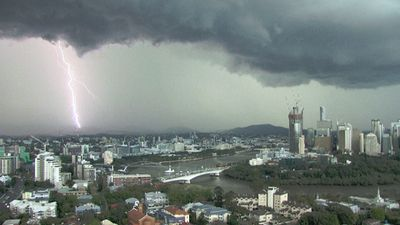 <p>Residents across southeast Queensland have photographed dark, menacing skies as two severe storms move across the region.<br>Residents of Esk, in the Somerset region of southeast Queensland, filmed hail carpeting the main street and neighbourhood.<br>Click through to see more pictures of southeast Queensland's wild weather.</p><p>(Supplied, Brisbane City)</p>