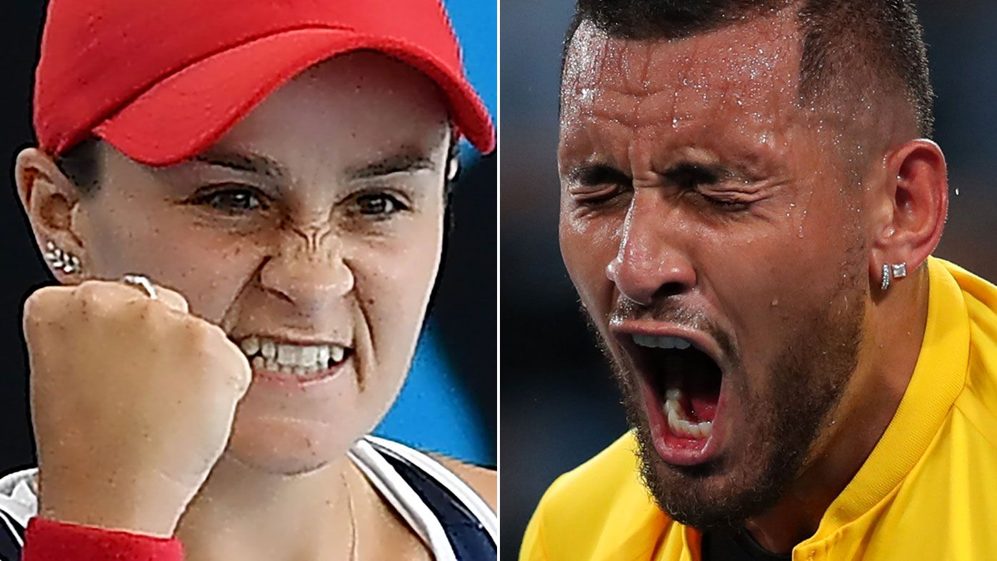 Ash Barty roars back for winning start in Melbourne