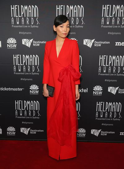 Dami Im in Carla Zampatti at the Helpmann Awards 2017, Capitol Theatre, Sydney.