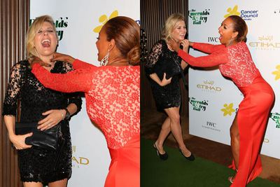 We just had to include these pictures of Nat B and Mel B last year ... they're too good not to publish!