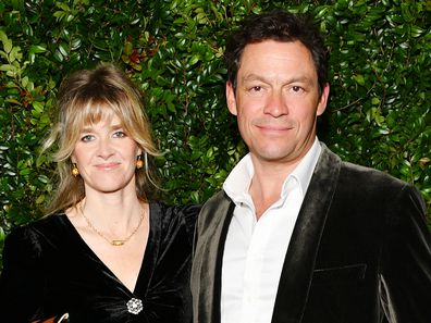 Dominic West and Catherine Fitzgerald attend Chanel And Charles Finch Pre-Oscar Awards Dinner At The Polo Lounge in Beverly Hills on February 23, 2019 in Beverly Hills, California.