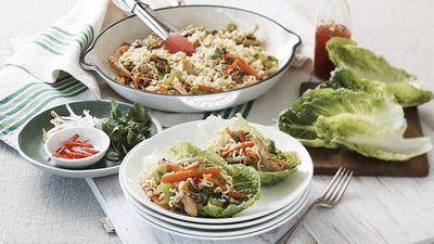 """<a href=""""http://kitchen.nine.com.au/2017/01/24/13/06/maggi-bbq-chicken-lettuce-cups"""" target=""""_top"""">Maggi BBQ chicken lettuce cups</a> recipe"""