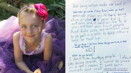 Autistic girl pens heartwarming letter to mother from beneath teacher's desk