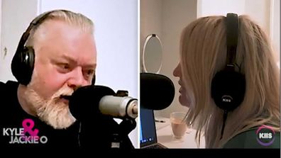 Kyle Sandilands and Jackie O Henderson work from home.