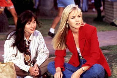 <p>Beverly Hills 90210 1990-2000</p> <p> Spaghetti straps, acid wash denim and bold block colours- How else are you going to land a beau at West Beverly High?<br /> <br /> <br /> </p>