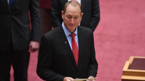 One Nation defector Fraser Anning.
