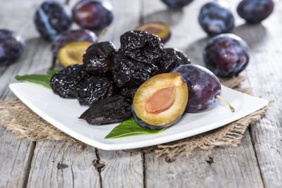 Prunes and dried fruit