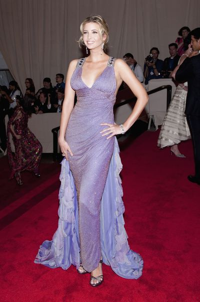 Ivanka Trump in Atelier Versace at the 2010 Met Gala, <em>American Woman: Fashioning a National Identity.</em>