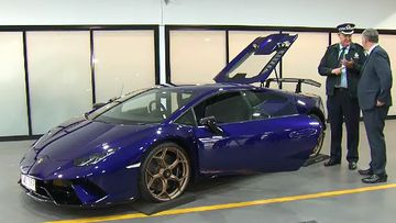 """A """"one of a kind"""" luxury Lamborghini coupe is set to go under the hammer in Queensland after its owner was charged with multiple hooning offences."""