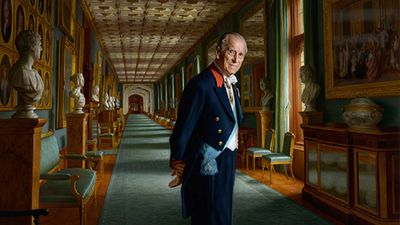 The portrait was painted following the duke's retirement in 2017.