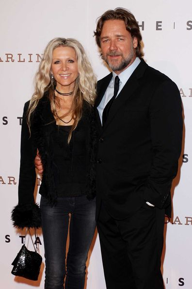 Russell Crowe and Danielle Spencer in 2011.