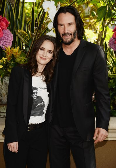 Winona Ryder, Keanu Reeves, photo call, Destination Wedding, 2018