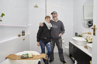 Jason and Sarah started their renovations by flipping their floor plan, which slowed everything down.