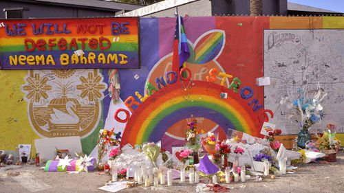 The shooting sparked an outpouring of grief and support within the Orlando community. Picture: AAP.