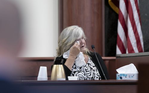 Tim Jones' grandmother, Roberta Thornsberry, testifying during the sentencing phase of the trial. Photo: Tracy Glantz/The State via AP, Pool