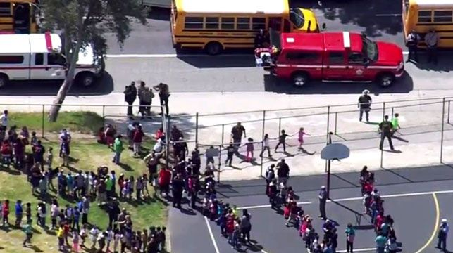 The US has been rocked by school shootings including the gun rampage in San Bernardino, California. (Photo: AP)
