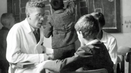 Hans Asperger at work in Vienna during 1944. (AP).