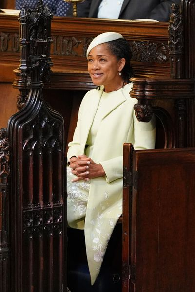 <p><strong>Photo of Doria Ragland</strong>, Meghan Markle's mother as she takes her seat in St George's Chapel at Windsor Castle, the venue of the Royal wedding</p>