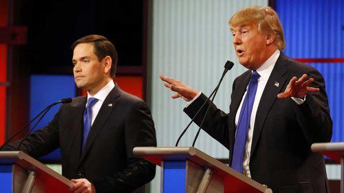 Marco Rubio and Donald Trump. (AP)