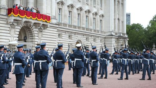 The Queen spoke to the family tradition with the RAF. Picture: Getty