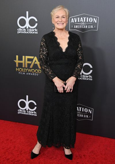 Glen Close, in Ralph Lauren, at the 22nd Annual Hollywood Film Awards, November, 2018