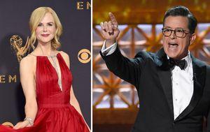 Emmy Awards: Colbert pokes fun at Nicole Kidman and Big Little Lies co-stars