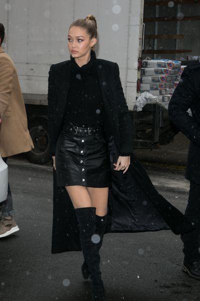 Gigi Hadid in New York, February.