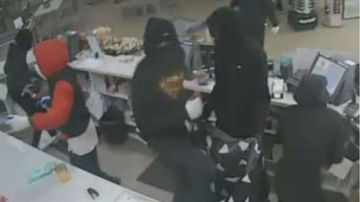 Armed gang rob and terrorise staff at three service stations