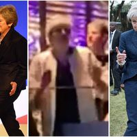 Dancing queen Theresa May busts a move on a night out