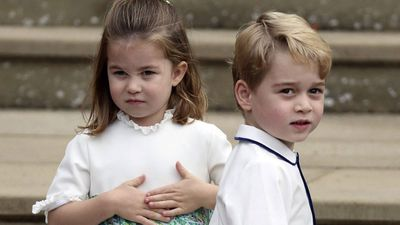 Prince Charlotte and Prince George attend Princess Eugenie's wedding in October, 2018