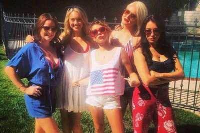 @sarahhyland: The American crew. Watch out. Happy fourth!!! Be safe! Or we'll get ya :)
