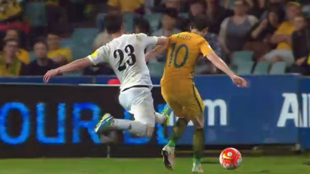 Socceroos star Kruse felled by 'disgusting' tackle