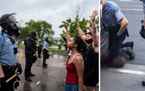 George Floyd: Minneapolis protesters clash with riot police over black man's death