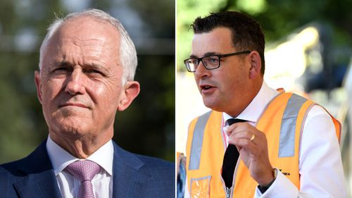 Mr Turnbull said he is confident Victorian Premier Daniel Andrews will join a partnership with the Federal government to see the rail line built. Picture: AAP.