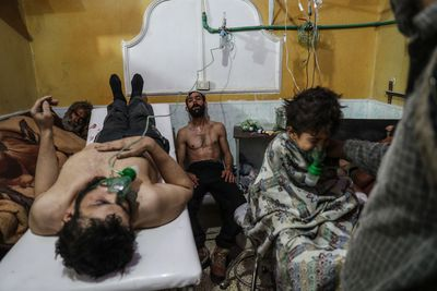 'Victims of an Alleged Gas Attack Receive Treatment in Eastern Ghouta'