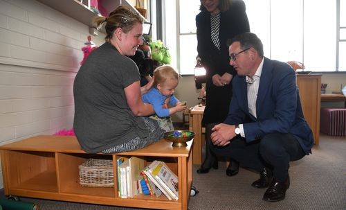 Premier Daniel Andrews today pledged to expand Labor's free TAFE program to two early-childhood education and care courses if his government is re-elected this weekend.