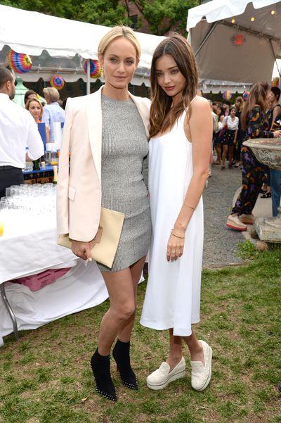 Amber Valetta and Miranda Kerr<br>