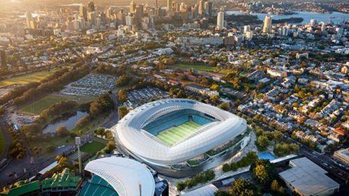 A mock up of Allianz Stadium's new design.