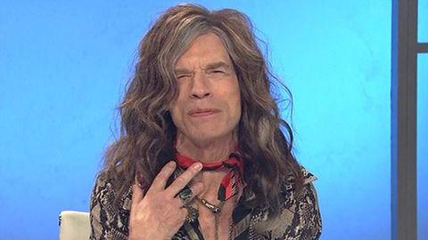 Mick Jagger as another big lipped rocker