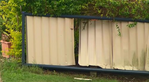 The car eventually slammed into a fence. (9NEWS)