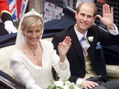 Royal wedding anniversary kiss