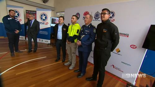 'Rise Up' was launched by PCYC today, to help connect young people with jobs. Picture: 9NEWS