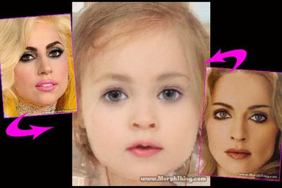 "See what the stars' babies would (or will) look like.<br/><br/>Pics created on <a href=""http://www.morphthing.com/"" target=""new"">MorphThing.com</a>"