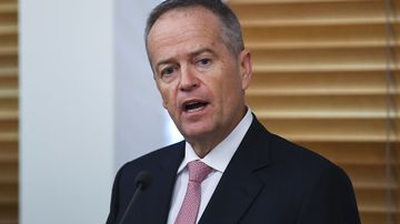 Bill Shorten addresses the Labor caucus for the last time as Labor leader in Canberra.