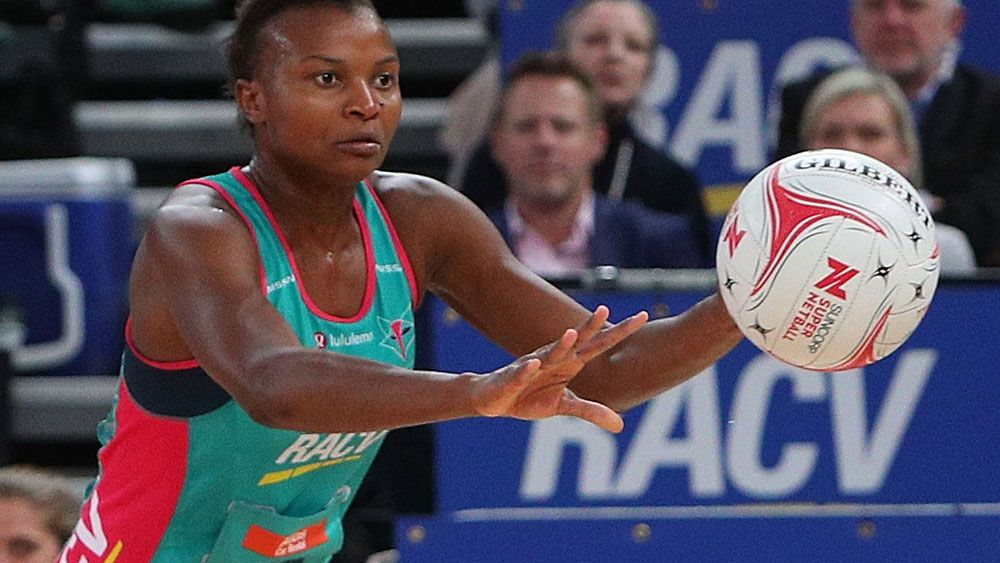 Mwai Kumwenda starred for the Vixens in their win over the Firebirds. (AAP)