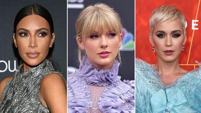 Taylor Swift, Kim Kardashian, Katy Perry, feud