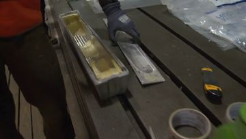 Police found more than 200kg of cocaine inside aluminium ingots.