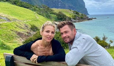 Chris Hemsworth and wife Elsa Pataky visited Lord Howe earlier this month with their family and friends.
