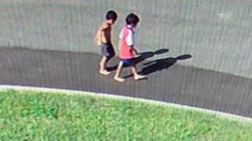 The boys were last seen on CCTV walking towards the Ross River.